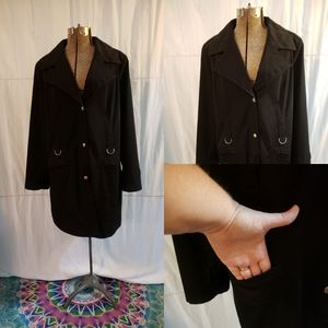 New York &Co Black Trenchcoat